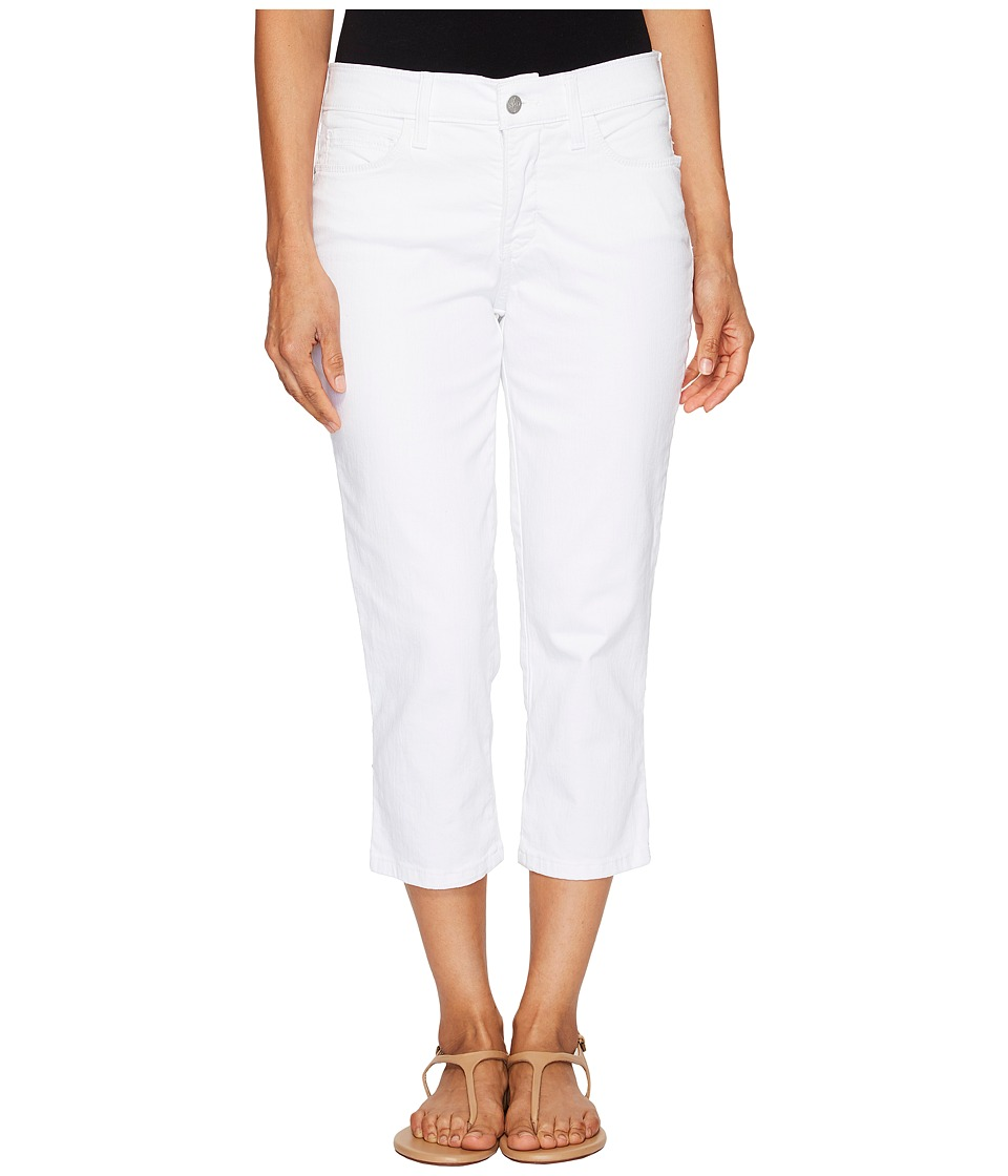 NYDJ Petite Petite Alina Capris in Optic White (Optic White) Women