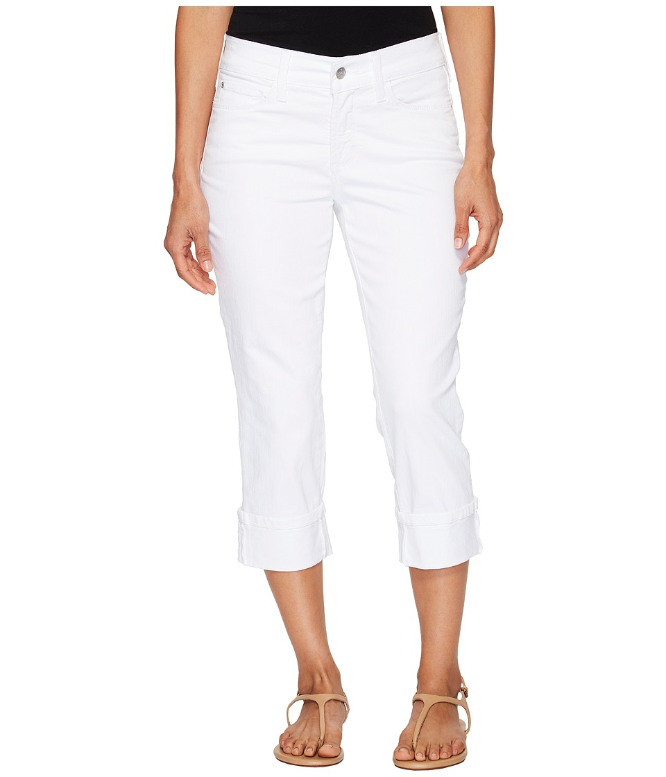 NYDJ Petite - Petite Dayla Wide Cuff Capris in Optic White (Optic White) Women's Jeans