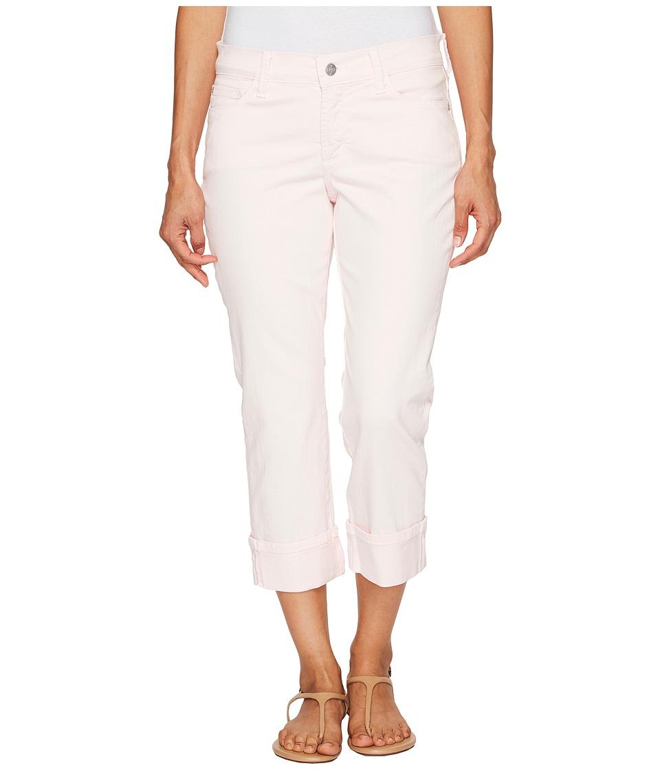 NYDJ Petite - Petite Dayla Wide Cuff Capris in Pink Chiffon (Pink Chiffon) Women's Jeans
