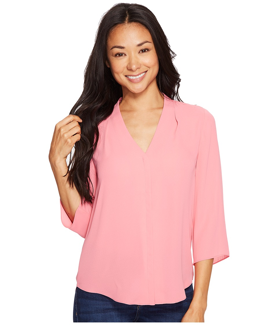 NYDJ Petite - Petite Novelty Tunic (Bisou Pink) Women's Blouse