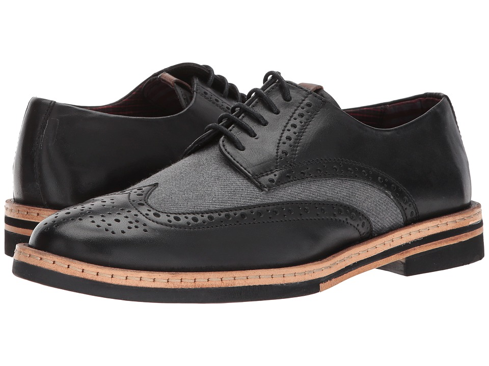 Ben Sherman Julian Wingtip (Black/Grey) Men