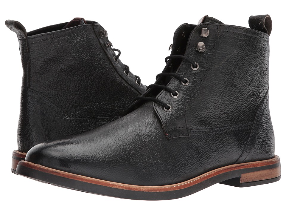 Ben Sherman Birk Plain Toe Boot (Black) Men