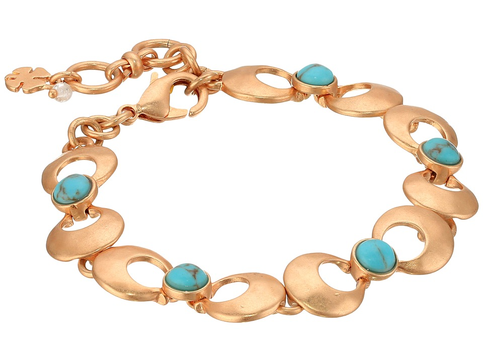 Lucky Brand - Turquoise Link Bracelet III (Rose Gold) Bracelet