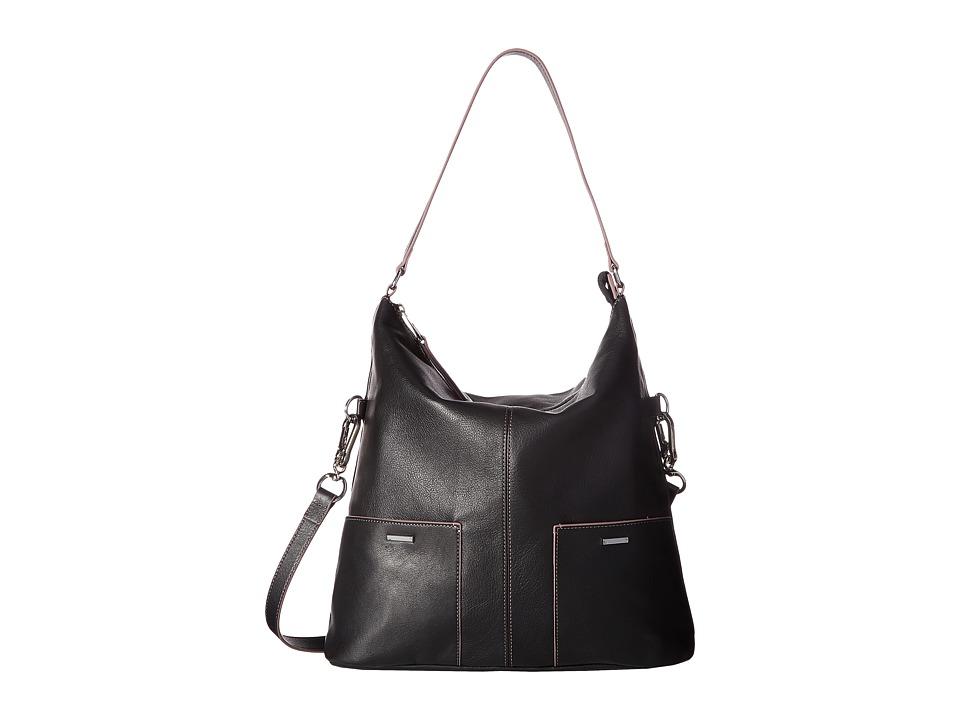 Lodis Accessories - Mill Valley Under Lock Key Tatiana Hobo (Black) Hobo Handbags