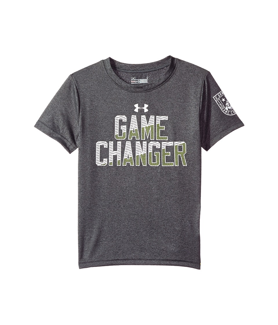 Under Armour Kids - Game Changer Tee (Little Kids/Big Kids) (Charcoal Grey Heather) Boy's T Shirt