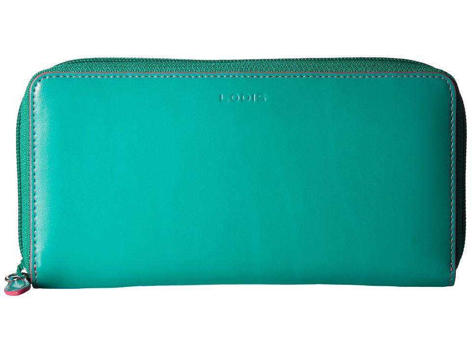 Lodis Accessories - Audrey Ada Zip Wallet (Green/Azalea) Wallet Handbags