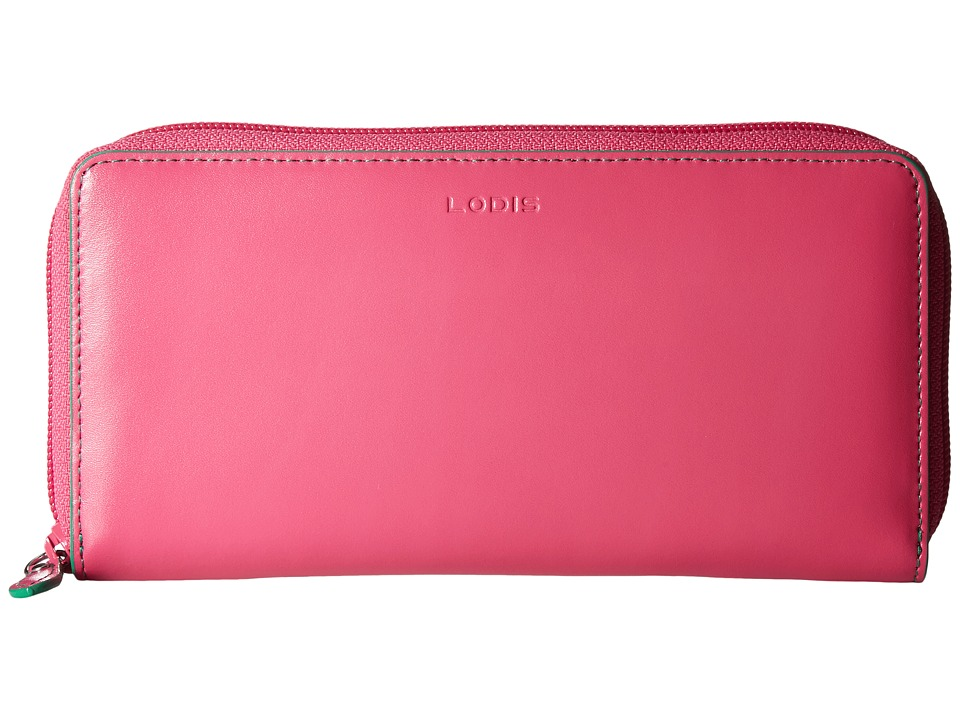Lodis Accessories - Audrey Ada Zip Wallet (Azalea/Green) Wallet Handbags