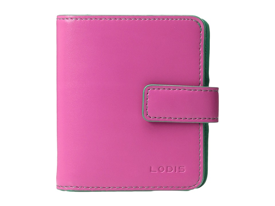 Lodis Accessories - Audrey Card Case Petite Wallet (Azalea/Green) Bi-fold Wallet
