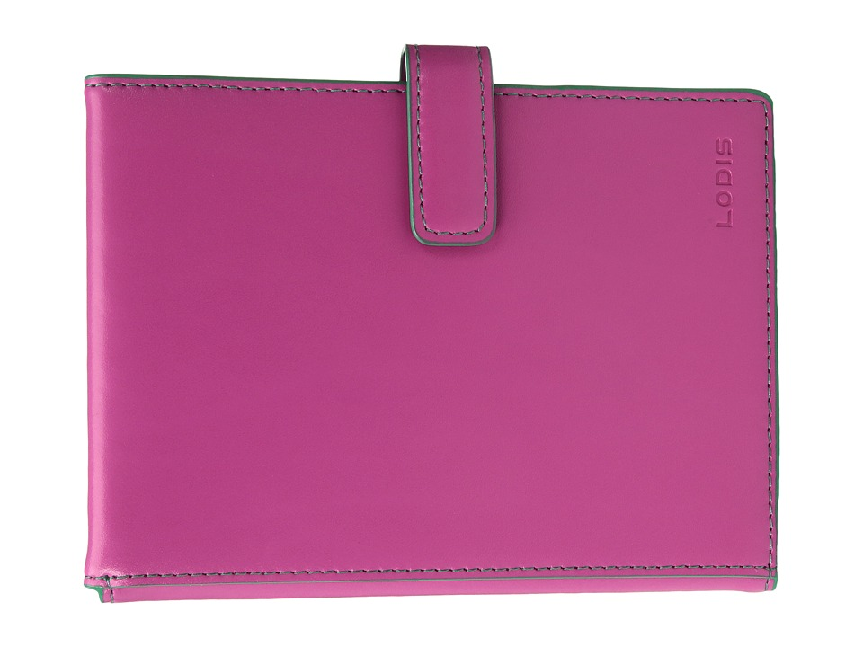 Lodis Accessories - Audrey Passport Wallet w/ Ticket Flap (Azalea/Green) Checkbook Wallet