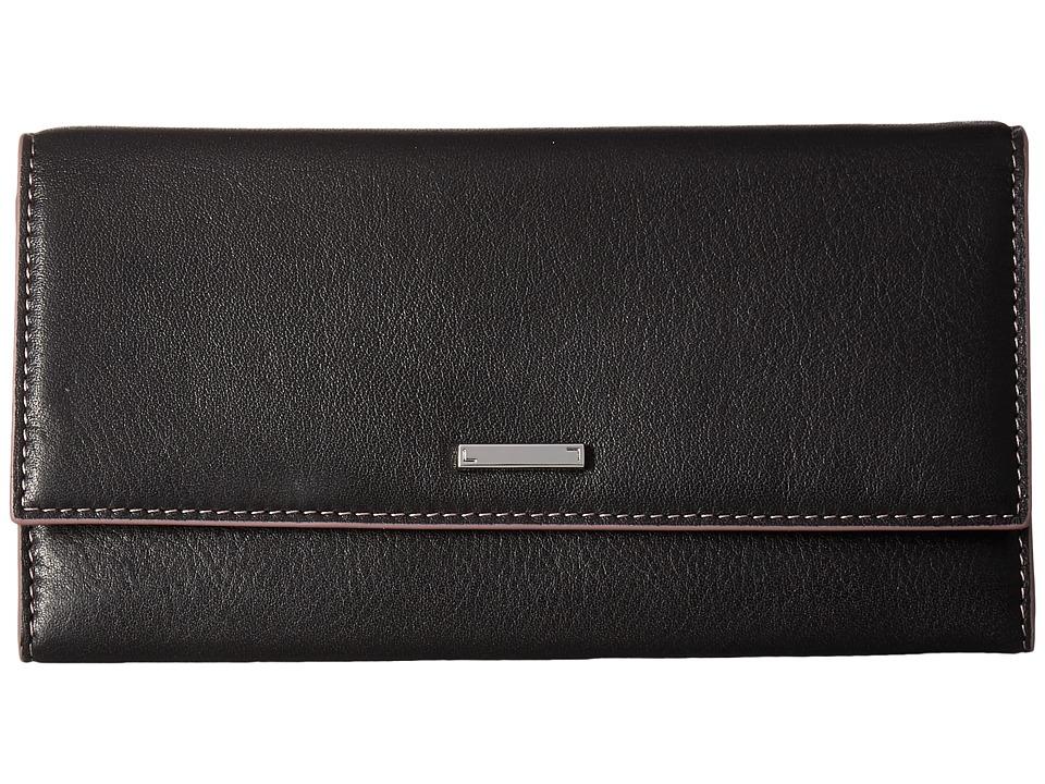 Lodis Accessories - Mill Valley Under Lock Key Cami Clutch Wallet (Black) Wallet Handbags