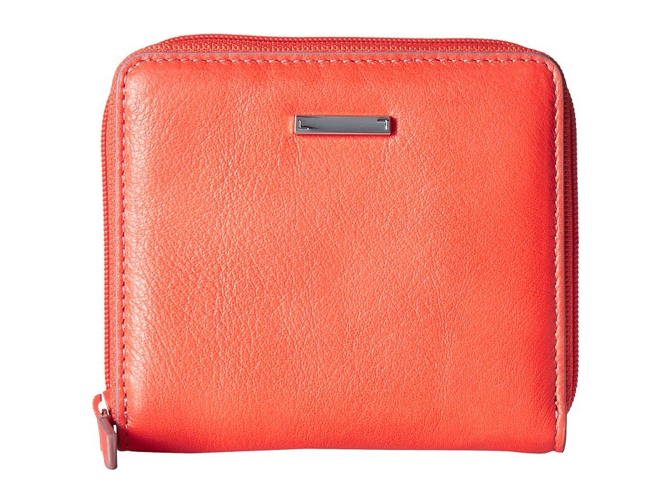 Lodis Accessories - Mill Valley Under Lock Key Amaya Zip French Wallet (Coral) Wallet Handbags