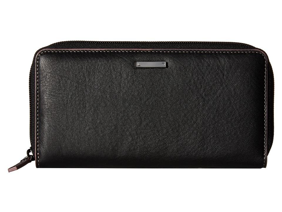 Lodis Accessories - Mill Valley Under Lock Key Ada Zip Wallet (Black) Wallet Handbags