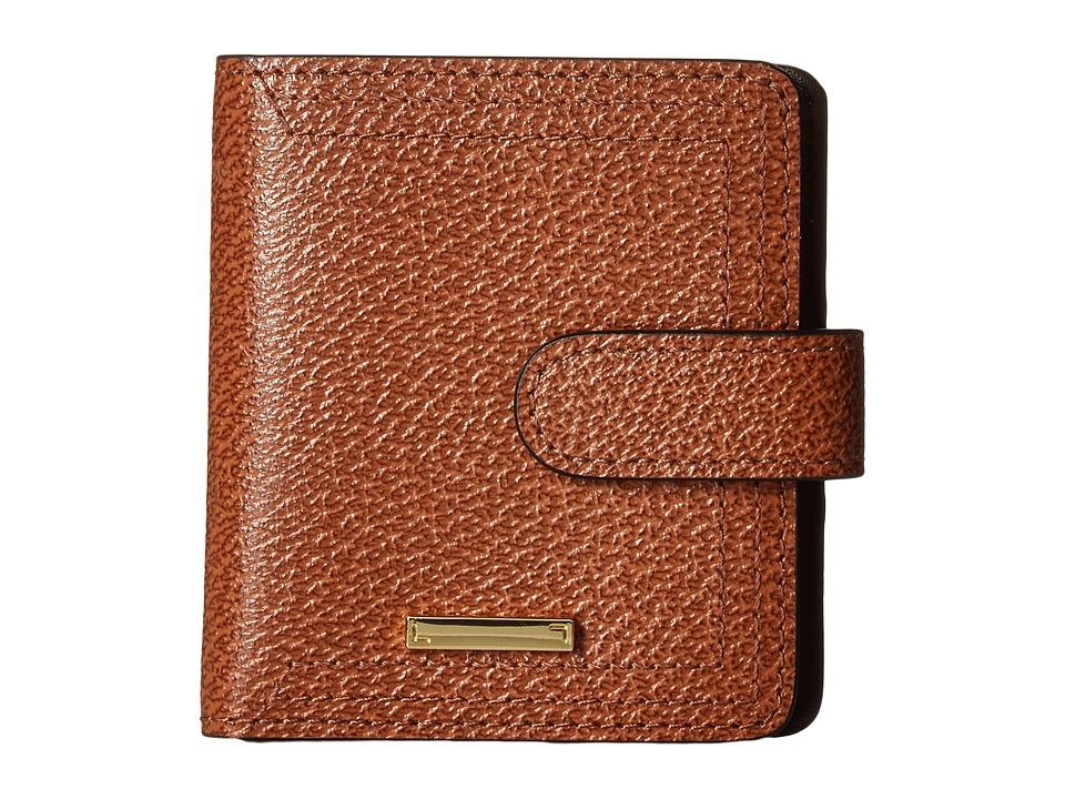 Lodis Accessories - Stephanie Under Lock Key Petite Card Case Wallet (Chestnut) Wallet Handbags
