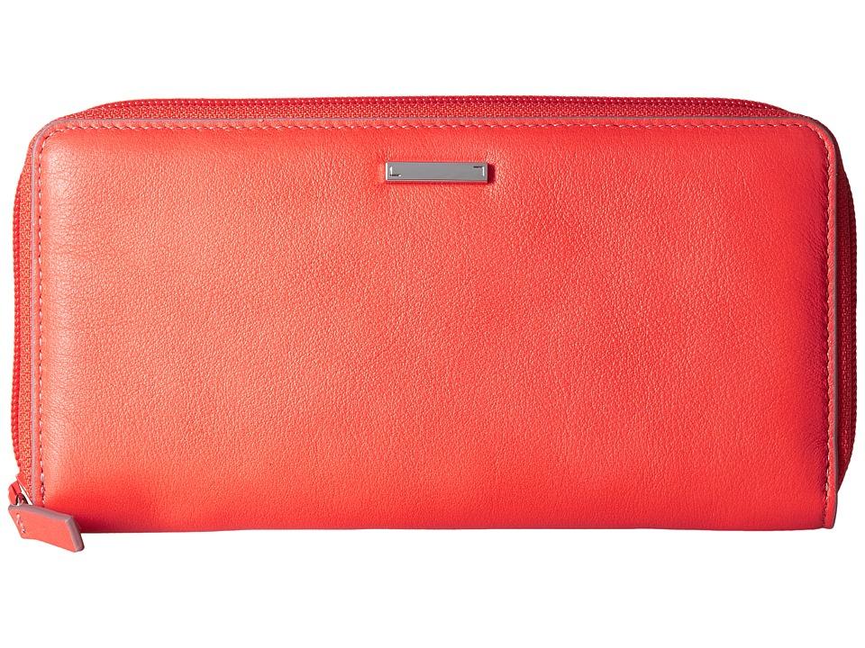 Lodis Accessories - Mill Valley Under Lock Key Ada Zip Wallet (Coral) Wallet Handbags