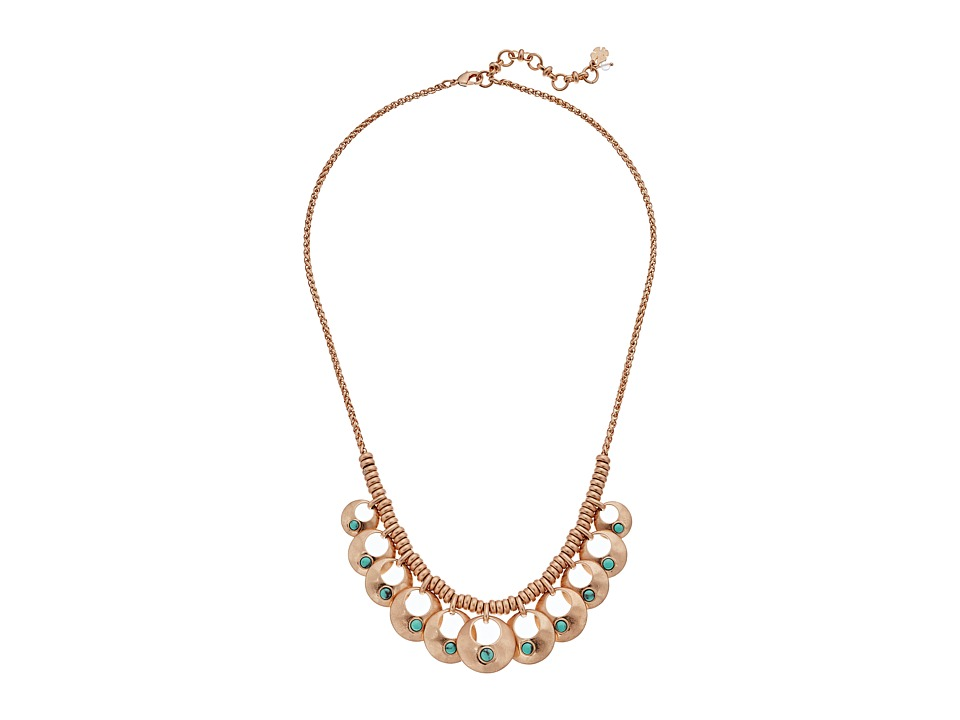 Lucky Brand - Turquoise Collar Necklace II (Rose Gold) Necklace