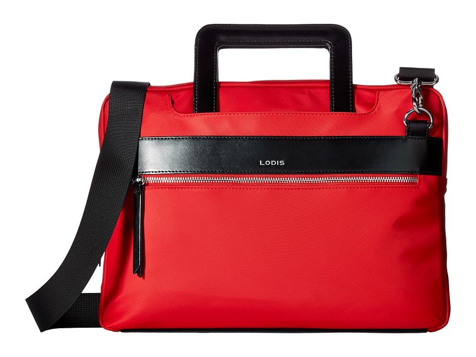 Lodis Accessories - Kate Nylon Under Lock Key Cora Laptop Crossbody (Red) Cross Body Handbags