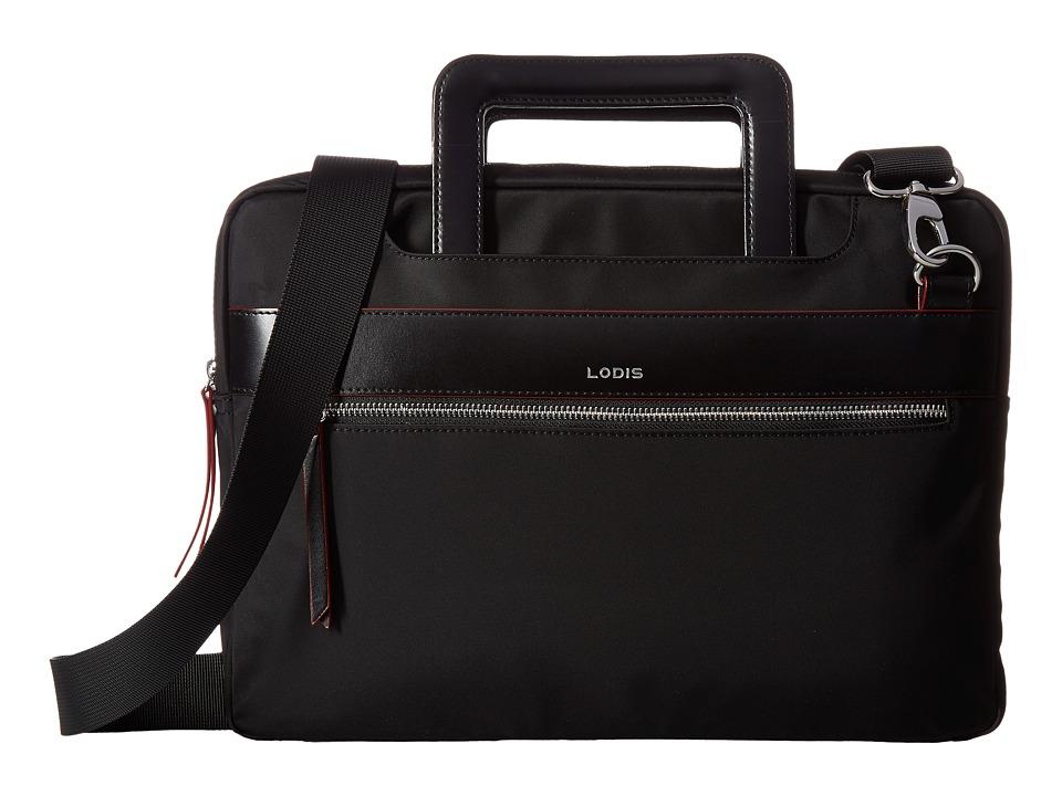 Lodis Accessories - Kate Nylon Under Lock Key Cora Laptop Crossbody (Black) Cross Body Handbags