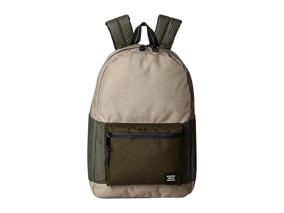 Herschel Supply Co. Settlement (Light Khaki Crosshatch/Forest Night) Backpack Bags
