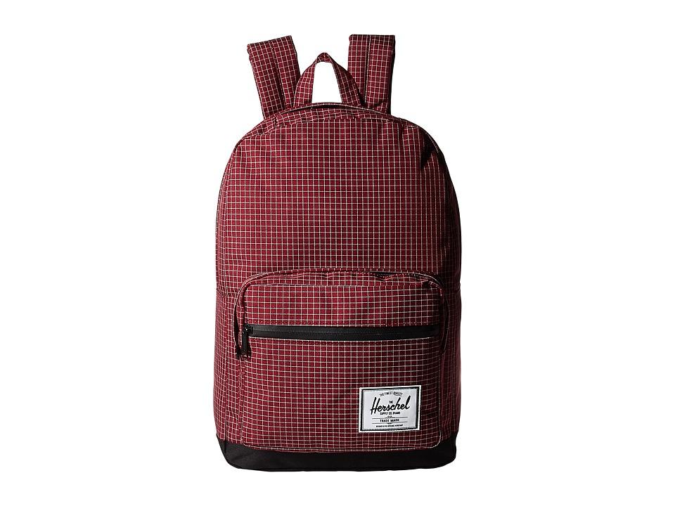 Herschel Supply Co. Pop Quiz (Windsor Wine Grid/Black) Backpack Bags
