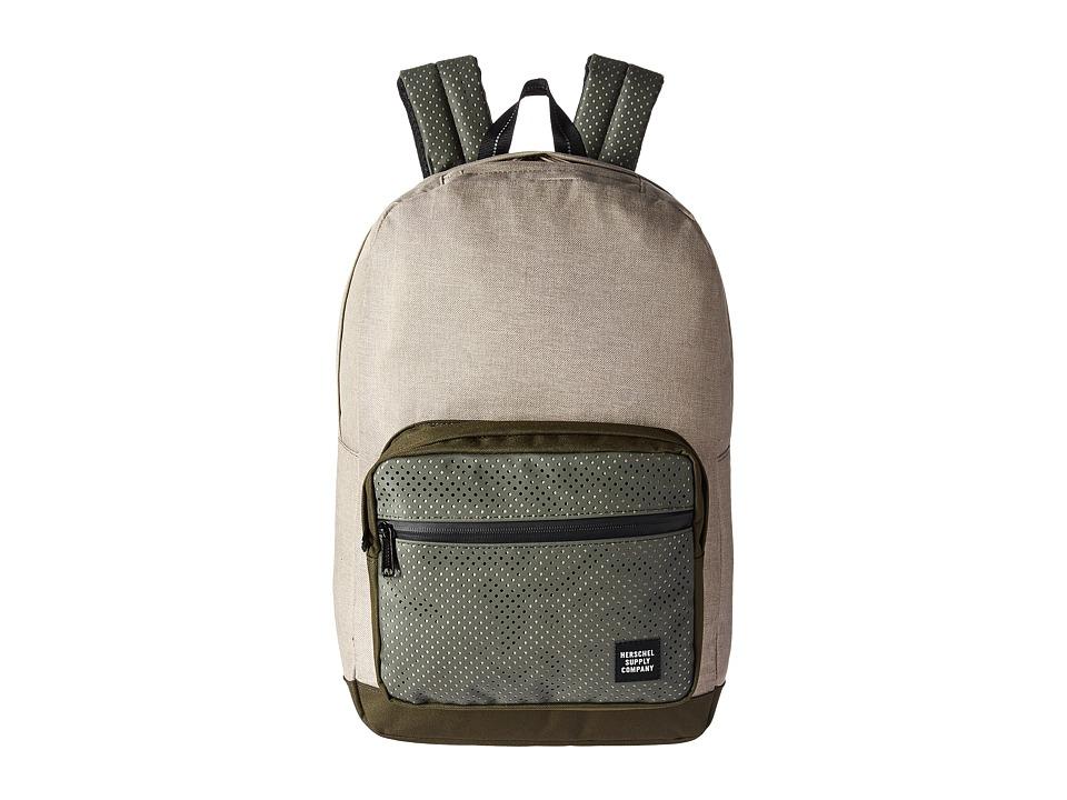 Herschel Supply Co. Pop Quiz (Light Khaki Crosshatch/Forest Night) Backpack Bags