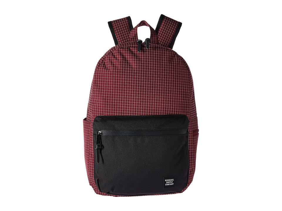 Herschel Supply Co. Harrison (Windsor Wine Grid/Black) Backpack Bags