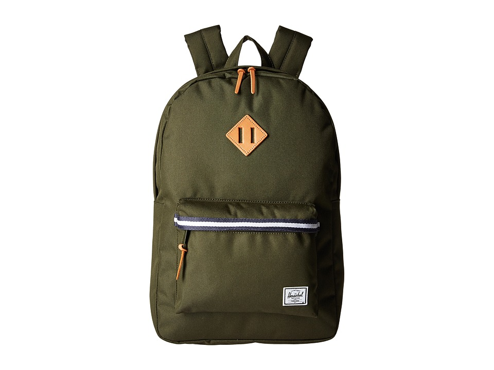 Herschel Supply Co. Heritage (Forest Green/Veggie Tan Leather) Backpack Bags