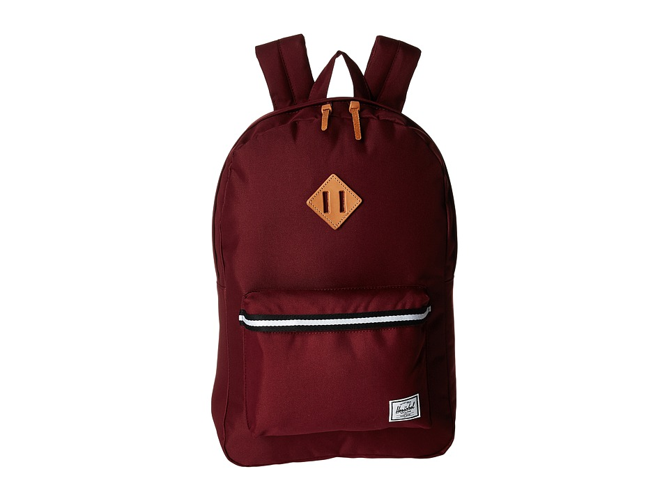 Herschel Supply Co. Heritage (Windsor Wine/Veggie Tan Leather) Backpack Bags