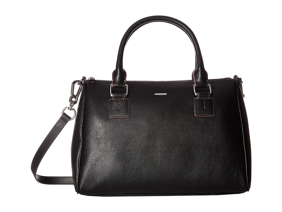 Lodis Accessories - Mill Valley Under Lock Key Valda Satchel (Black) Satchel Handbags