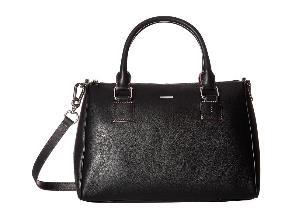 Lodis Accessories - Mill Valley Under Lock Key Valda Satchel (Black) Satchel Handbags