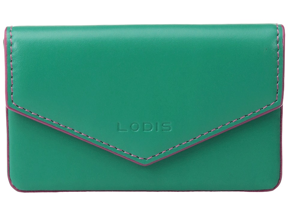 Lodis Accessories - Audrey Maya Card Case (Green/Azalea) Credit card Wallet