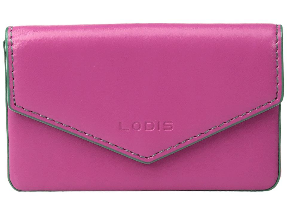 Lodis Accessories - Audrey Maya Card Case (Azalea/Green) Credit card Wallet
