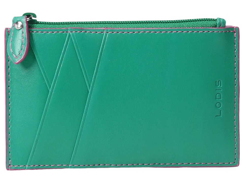 Lodis Accessories - Audrey Ina Card Case (Green/Azalea) Credit card Wallet