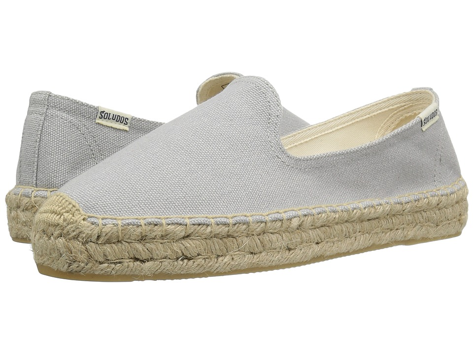 Soludos - Canvas Platform Smoking Slipper (Dove Gray) Women's Slippers