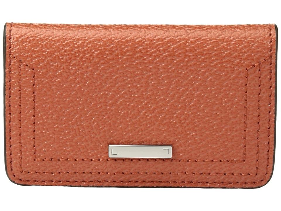 Lodis Accessories - Stephanie RFID Under Lock Key Mini Card Case (Orange) Bags