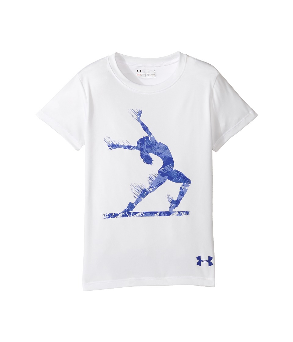 Under Armour Kids - Stick It Tee (Little Kids) (White) Girl's T Shirt