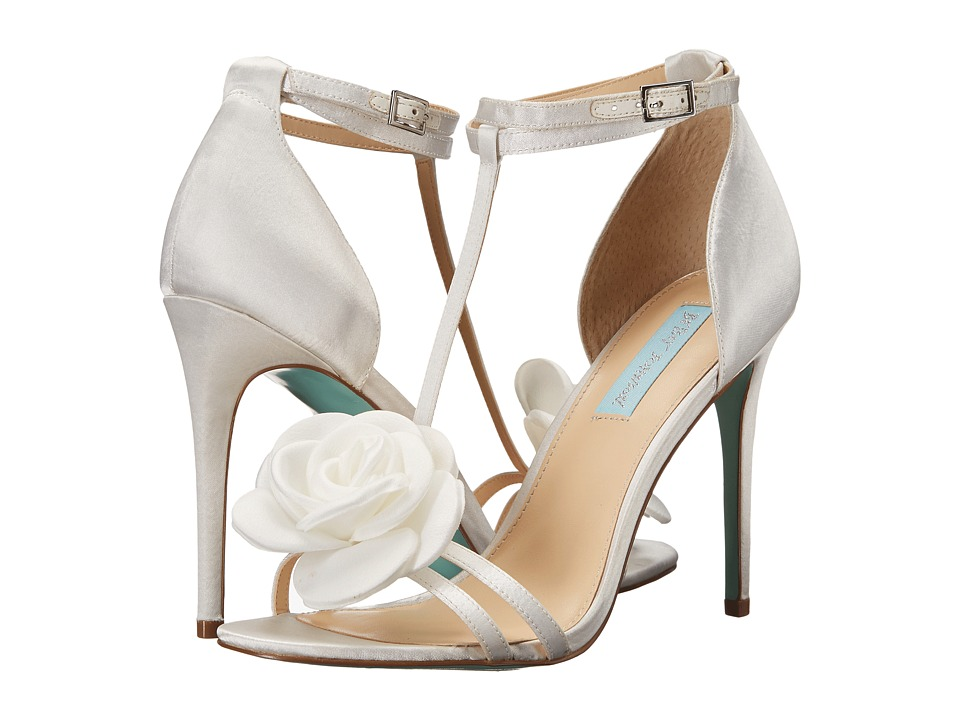 Blue by Betsey Johnson - Emme (Ivory Satin) Women's 1-2 inch heel Shoes