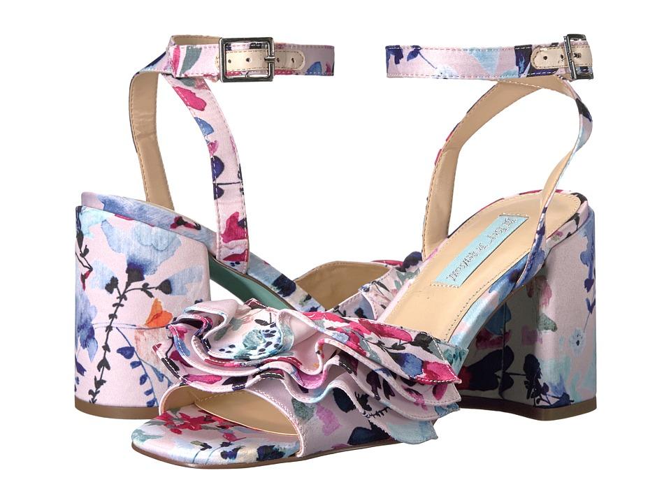 Blue by Betsey Johnson - Flirt (Blush Multi) Women's 1-2 inch heel Shoes