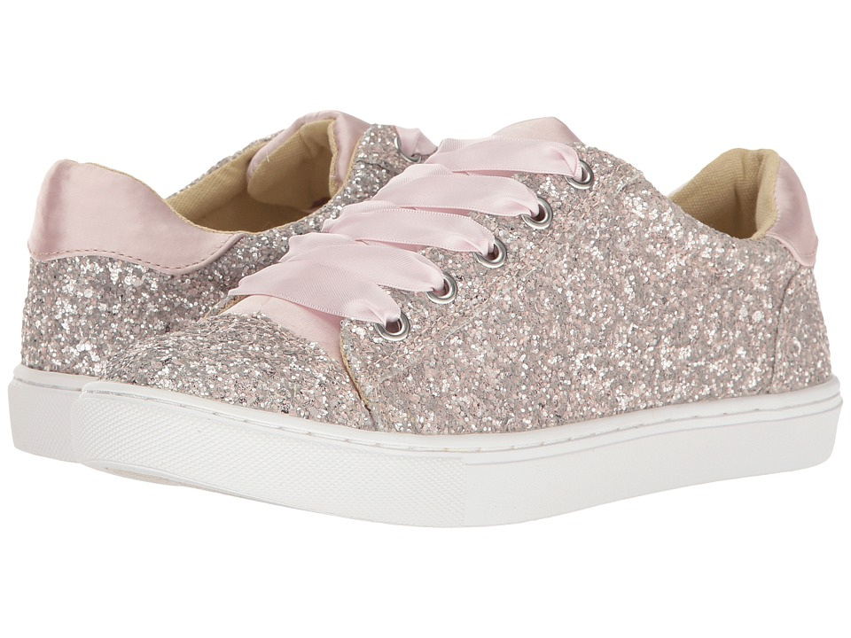 Blue by Betsey Johnson - Rae (Blush Glitter) Women's Lace up casual Shoes