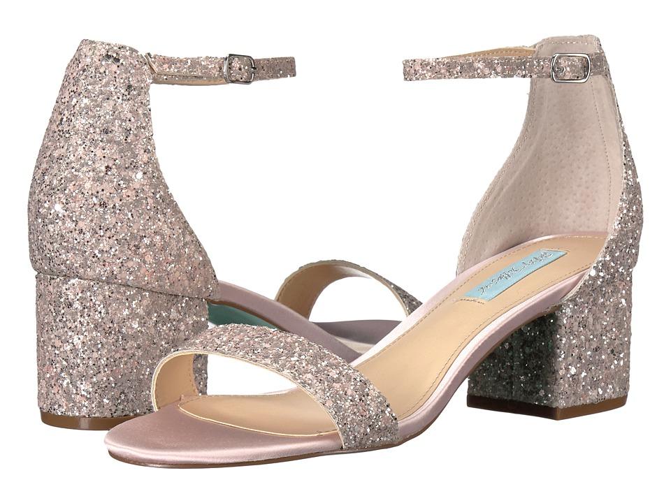 Blue by Betsey Johnson - Jayce (Blush Glitter) Women's 1-2 inch heel Shoes