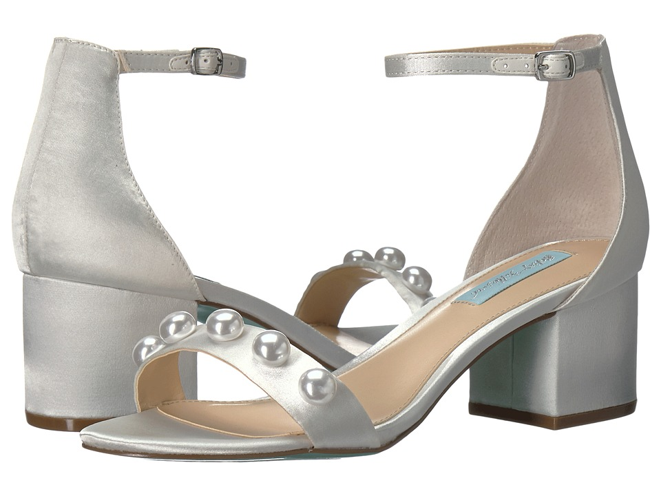 Blue by Betsey Johnson - Jaden (Ivory Satin) Women's 1-2 inch heel Shoes