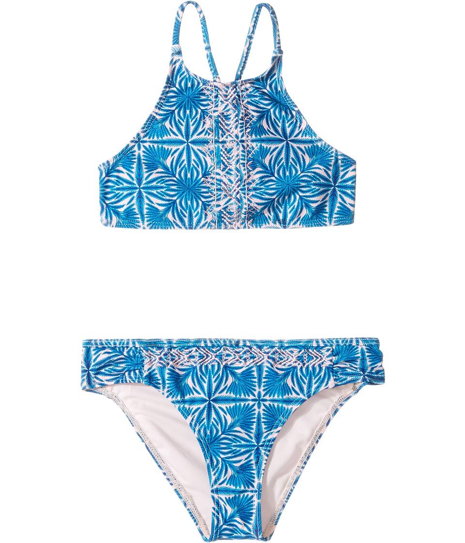 Roxy Kids - Sunny Dreams Crop Top Set (Big Kids) (Rose Quartz Havana Tile) Girl's Swimwear Sets