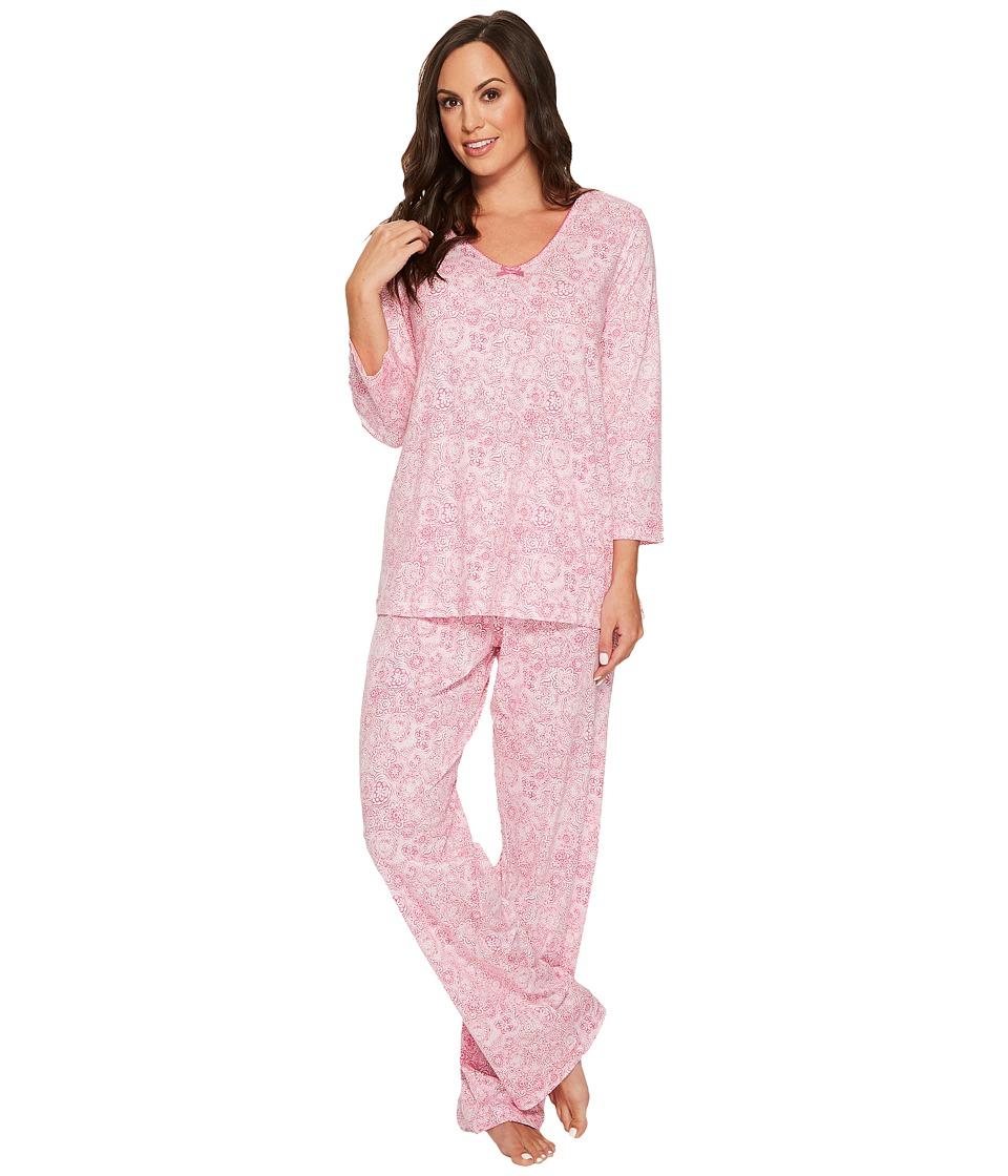 Carole Hochman - 3/4 Sleeve PJ Set (Sketch Twin) Women's Pajama Sets