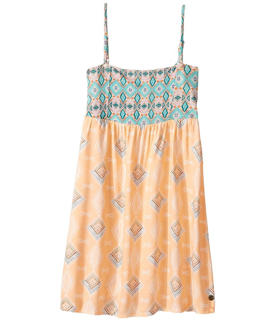 Roxy Kids - Don't Ever Let Her Go Dress (Big Kids) (Peach Nectar Sunset Diamond) Girl's Dress