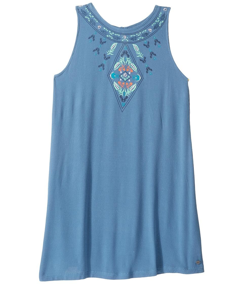 Roxy Kids - Everyone on a Run Solid Dress (Big Kids) (Captains Blue) Girl's Dress