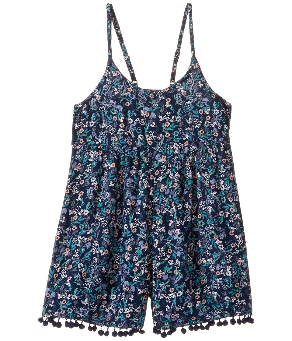 Roxy Kids - I Do Sometimes Romper (Big Kids) (Dress Blues Rumba Ditsy) Girl's Jumpsuit & Rompers One Piece