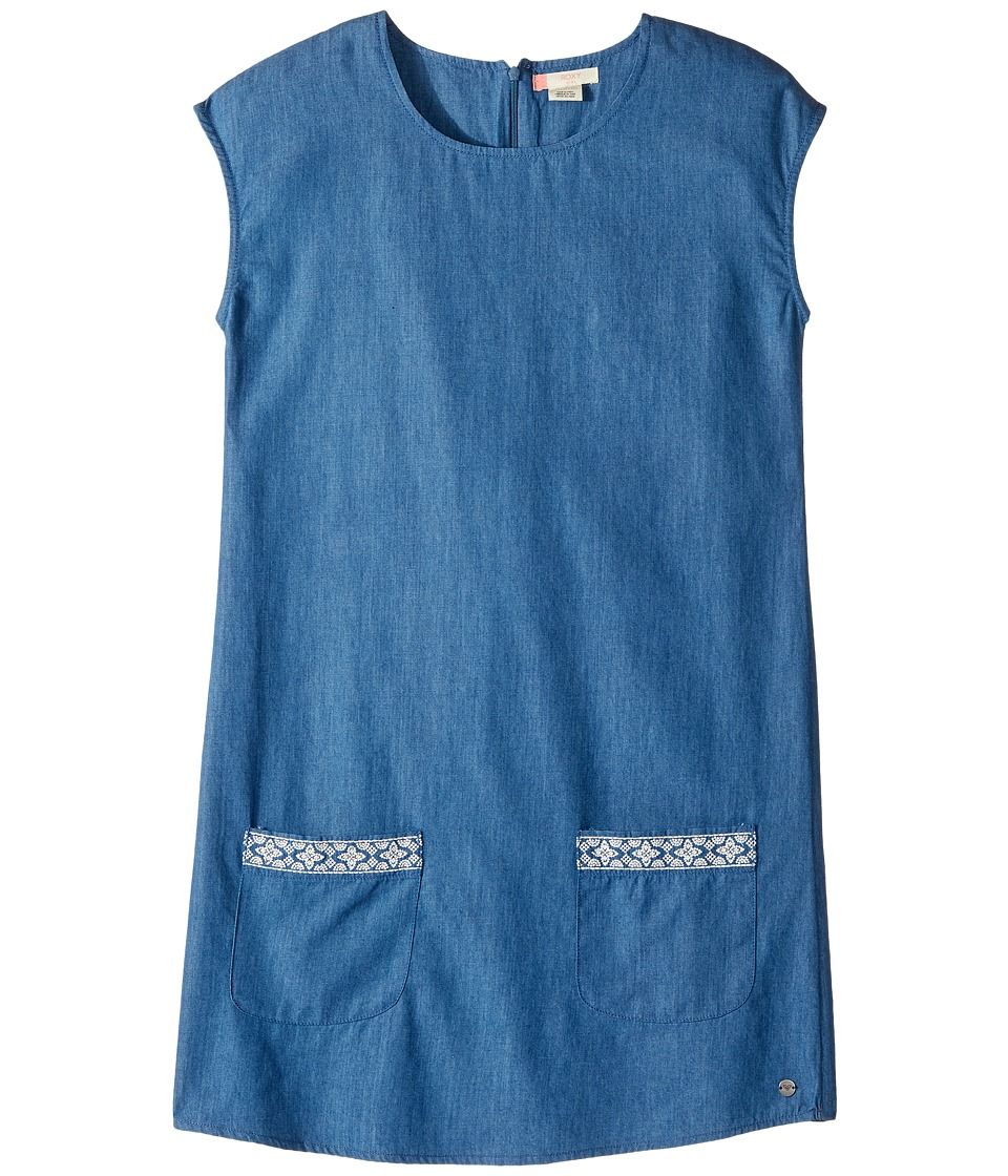 Roxy Kids - We Movin' Slow Dress (Big Kids) (Light Medium Blue) Girl's Dress