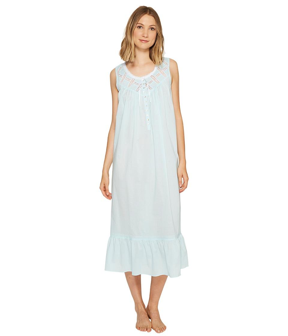 Eileen West - Cotton Lawn Ballet Nightgown (Solid Light Twilight Bay) Women's Pajama