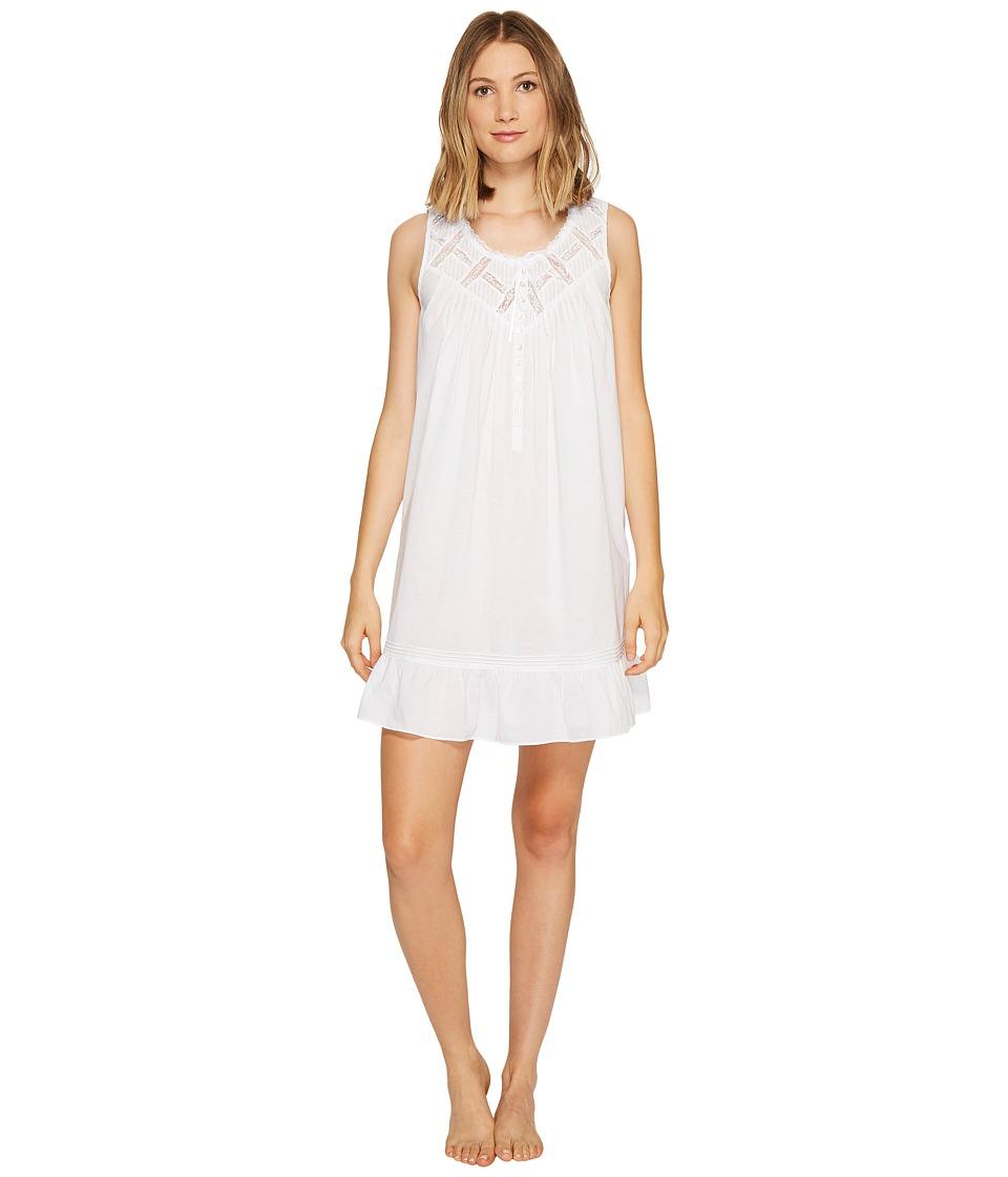 Eileen West - Cotton Lawn Short Chemise (Solid White) Women's Pajama