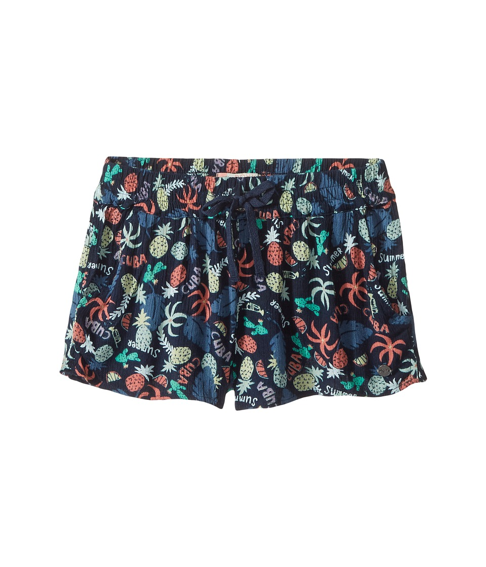 Roxy Kids - Gold in the Air Shorts (Big Kids) (Dress Blue Exotic Tic) Girl's Shorts