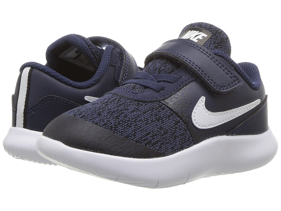 Nike Kids Flex Contact (Infant/Toddler) (Midnight Navy/White/Black) Boys Shoes